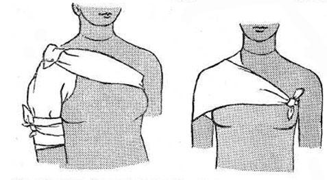 повязка на плечо из одной и