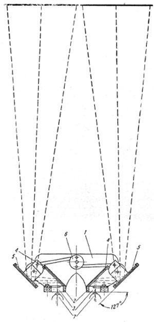 Схема переносного стереонегатоскопа Ф. Ф. Сивенко